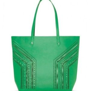 Stella and Dot Fillmore Green Tote Bag